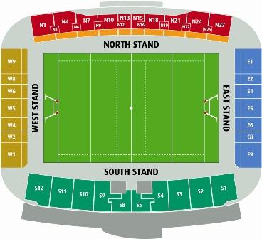 Parc y Scarlets Stadium Plan